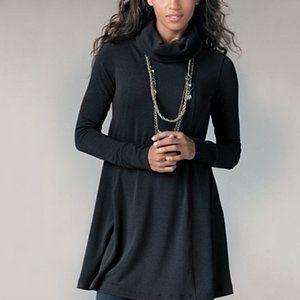 CAbi Black Cowl Neck Tunic Sweater Dress